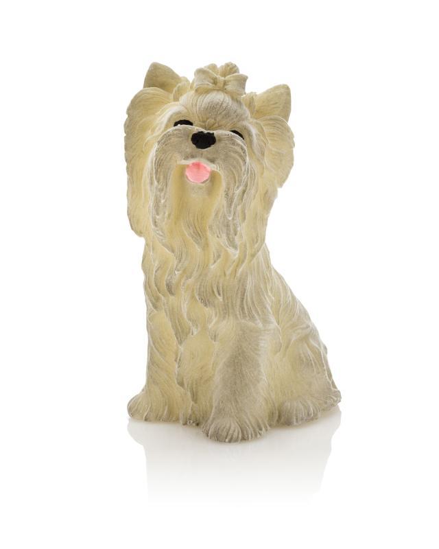 flambiance led hund mit haarschleife samt bei hse24