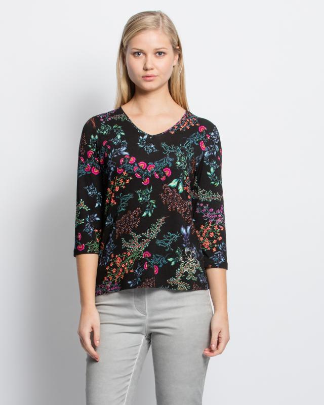 Shirt mit Blumen-Blätter-Druck Preisvergleich