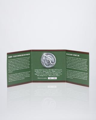 "Silbermünze Relief ""Elefant"""