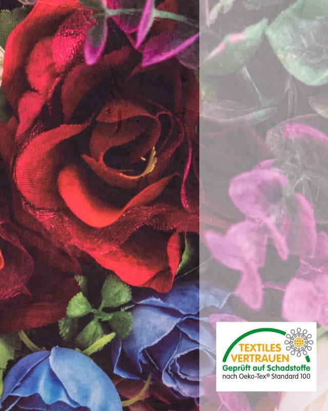 """Kuschel-Decke """"Blumen"""""""