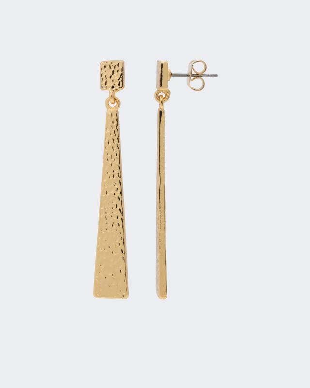 Ohrstecker, vergoldet & gehämmert   Schmuck > Ohrschmuck & Ohrringe > Ohrstecker   Gelb   Claris Vienna Jewelry Art