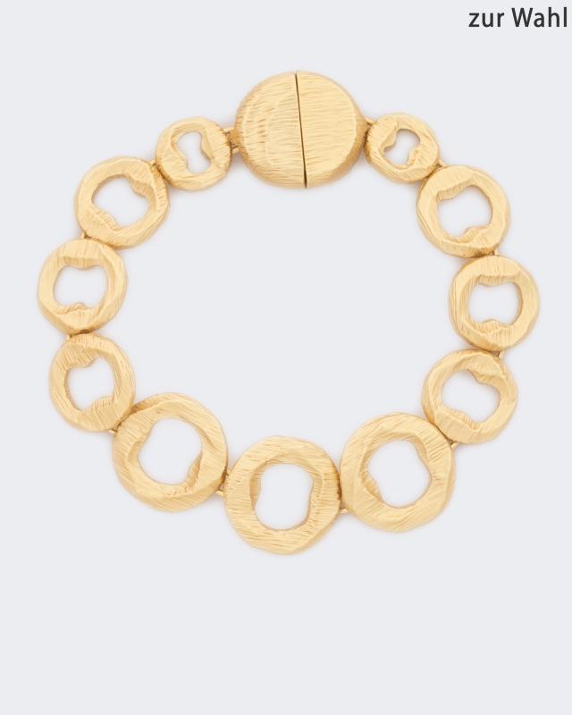 Armband, vergoldet & strukturiert | Schmuck > Armbänder > Goldarmbänder | Claris Vienna Jewelry Art