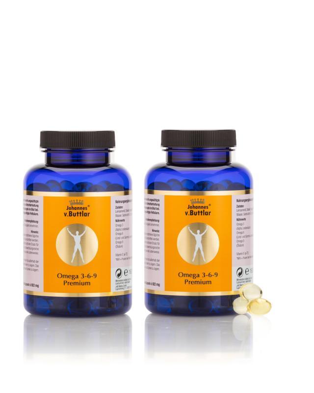 Omega 3-6-9 Premium, 2x 180 Kapseln
