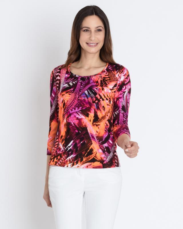 8f90543964a82f Shirt mit Allover-Feder-Print online bei HSE24.de