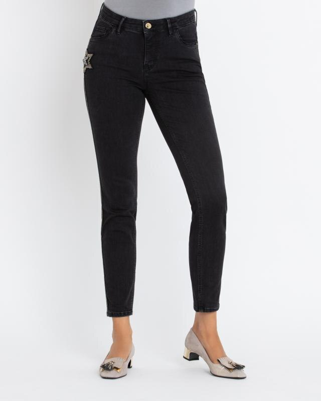 skinny-jeans-mit-sternen-patch, 169.00 EUR @ hse24