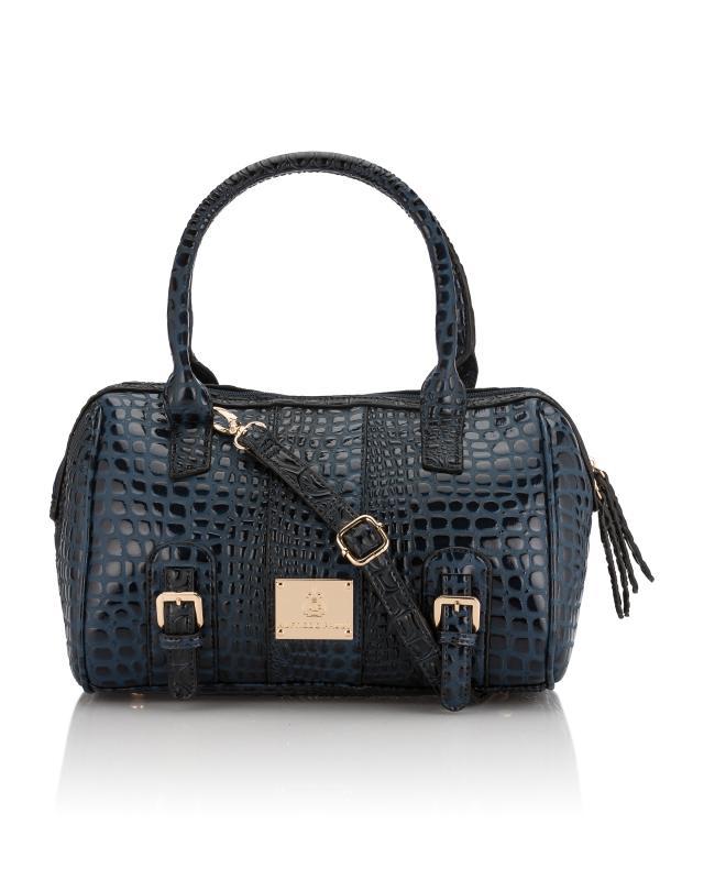 Bowlingtasche in glänzender Kroko-Optik   Taschen > Handtaschen > Bowlingtaschen   Polyurethan - Polyester   Alfredo Pauly
