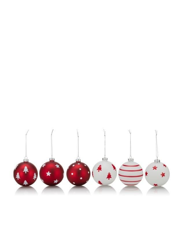 6er Set Weihnachtskugeln, hier online