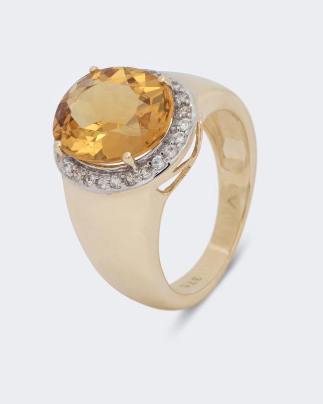 Ring mit Goldberyll & Zirkon | Schmuck > Ringe > Goldringe | Gold | Harry Ivens