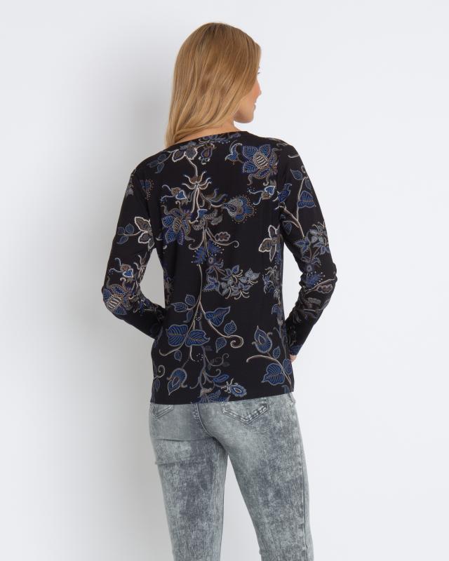 Shirt mit Allover-Blumendruck Preisvergleich