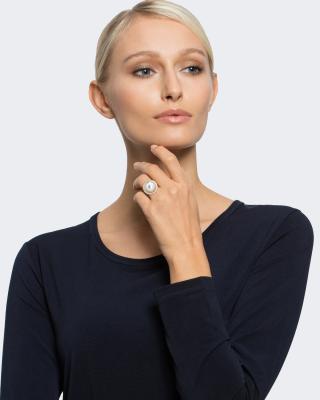 Ring mit Muschelkernperle 13 mm
