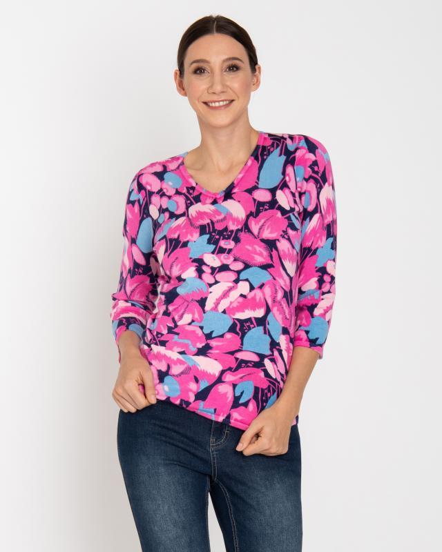 3/4-Arm-Pullover ''Tulpen''   Bekleidung > Pullover > 3/4 Arm-Pullover   Viskose   Ovanti Strickdesign