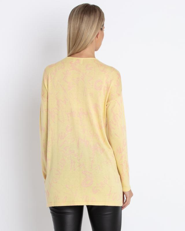 long-pullover-mit-schrift-muster
