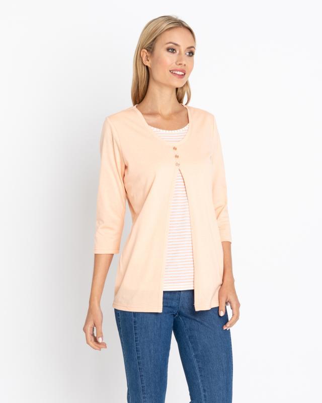 2-in-1 Shirt mit 3/4-Arm | Bekleidung > Shirts > 2-in-1 Shirts | Baumwolle | Helena Vera
