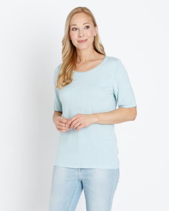 Kurzarm-Pullover im Punktedesign | Bekleidung > Pullover > Kurzarmpullover | Helena Vera