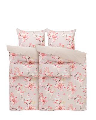 4 Teilige Bettwäsche Pastellrosen Online Kaufen