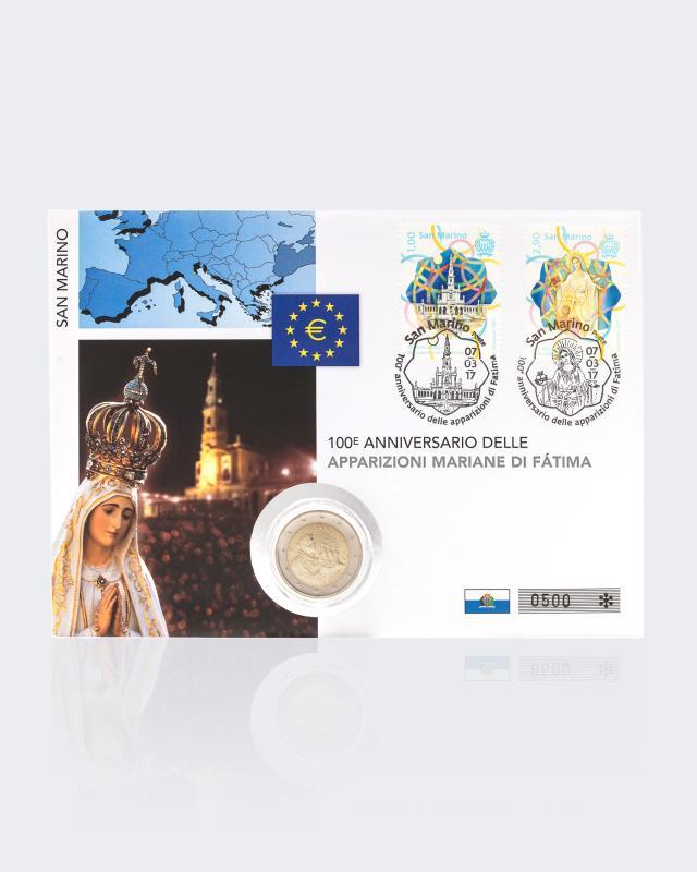 2 Euro Numisbrief Sammleredition San Marino Fatima