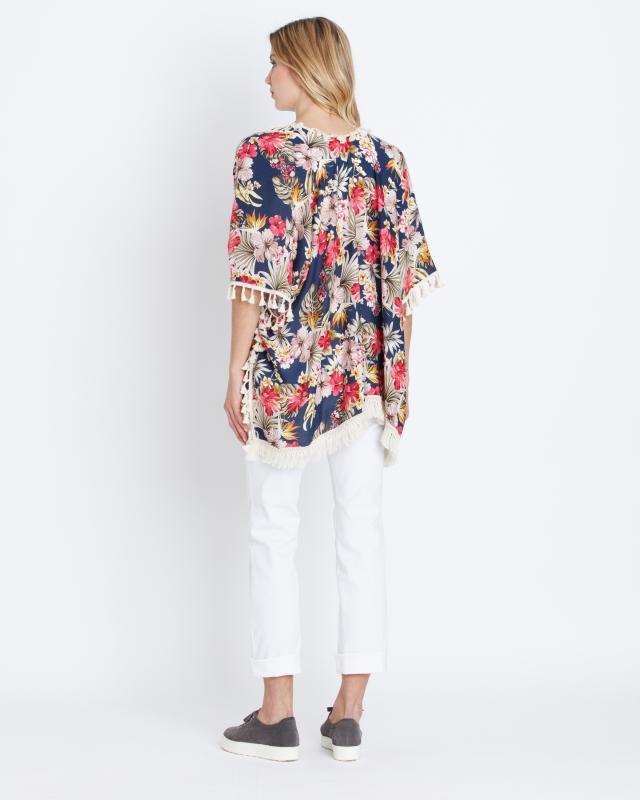 kimono-mit-blumen-print