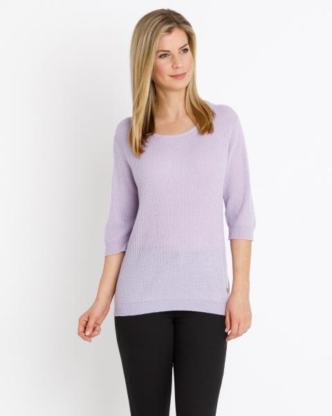 Cashmere Pullover mit Ripp-Struktur