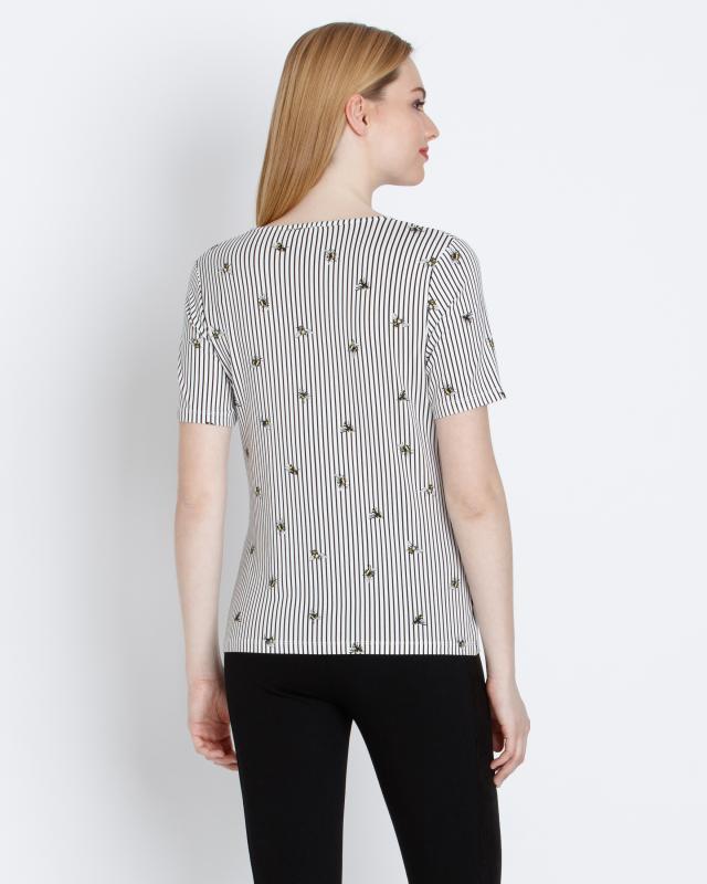 shirt-mit-bienen-und-streifendruck