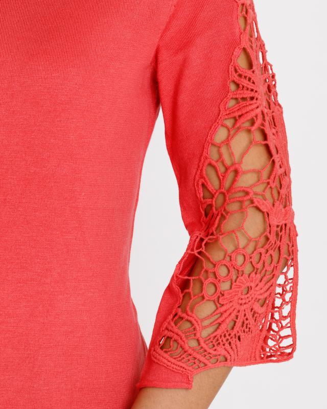 pullover-mit-spitzeneinsatz, 69.98 EUR @ hse24
