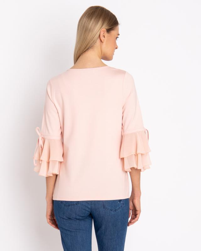 shirt-mit-chiffon-ruschen