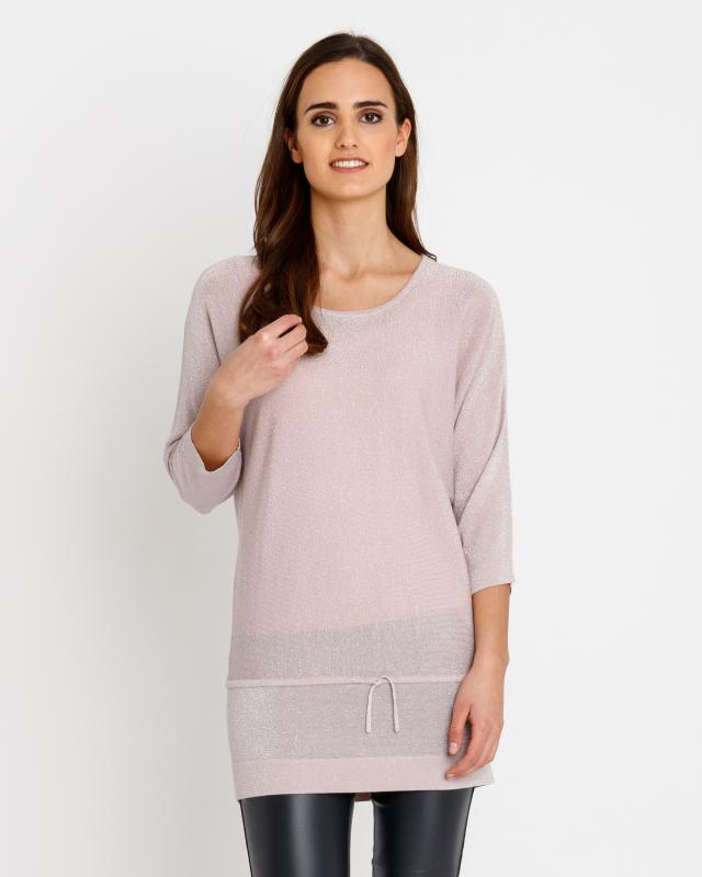 Long-Pullover mit Glanzgarn | Bekleidung > Pullover > Longpullover | Judith Williams
