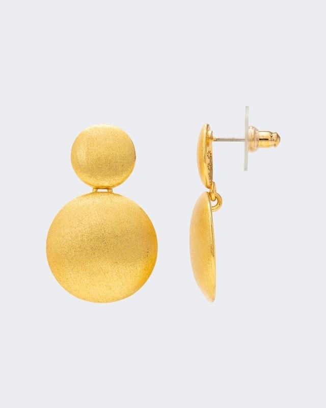 Ohrstecker im Halbkugel-Design | Schmuck > Ohrschmuck & Ohrringe > Ohrstecker | Gelb | Claris Vienna Jewelry Art
