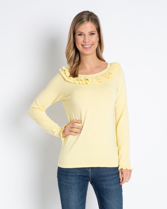 Carmen-Pullover mit Rüschen | Bekleidung > Pullover > Carmenpullover | Marcel Ostertag