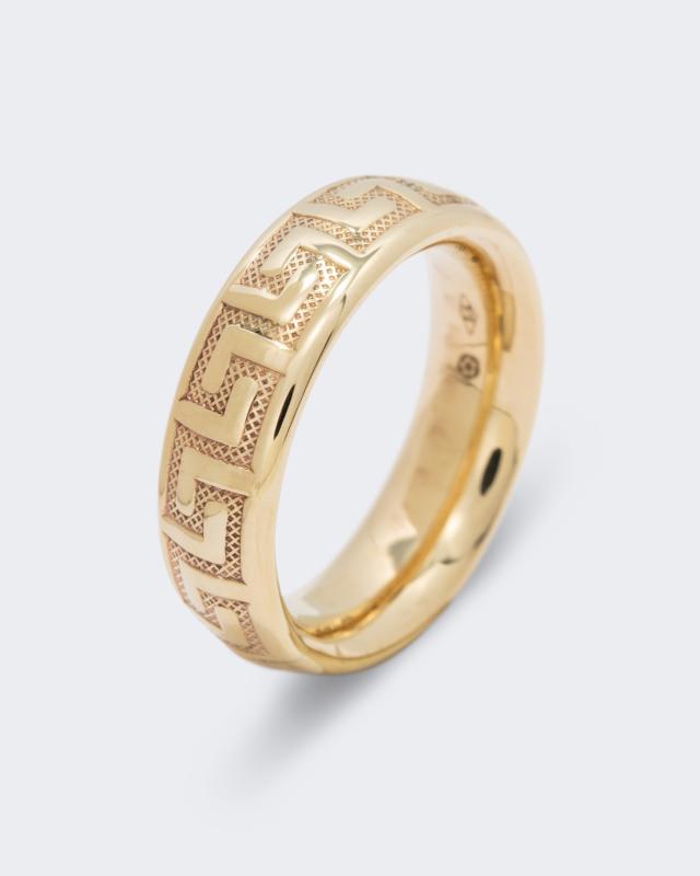 Ring mit Struktur-Gravur | Schmuck > Ringe > Ringe mit Gravur | Gold | Aleksander Sternen
