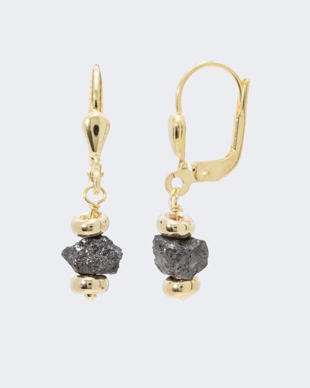 Gold-Ohrhänger mit Diamanten und 2,00 ct