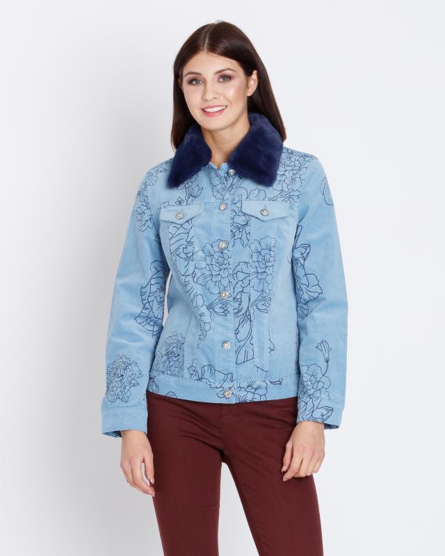 Cordjacke mit Blumendruck   Bekleidung > Jacken > Cordjacken   Cord - Baumwolle - Polyester   Lola Paltinger