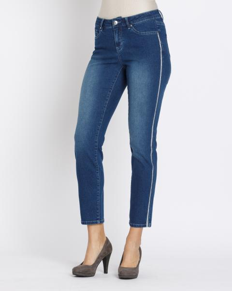 Jeans mit Glanz-Galon (Ankle-Lenght)