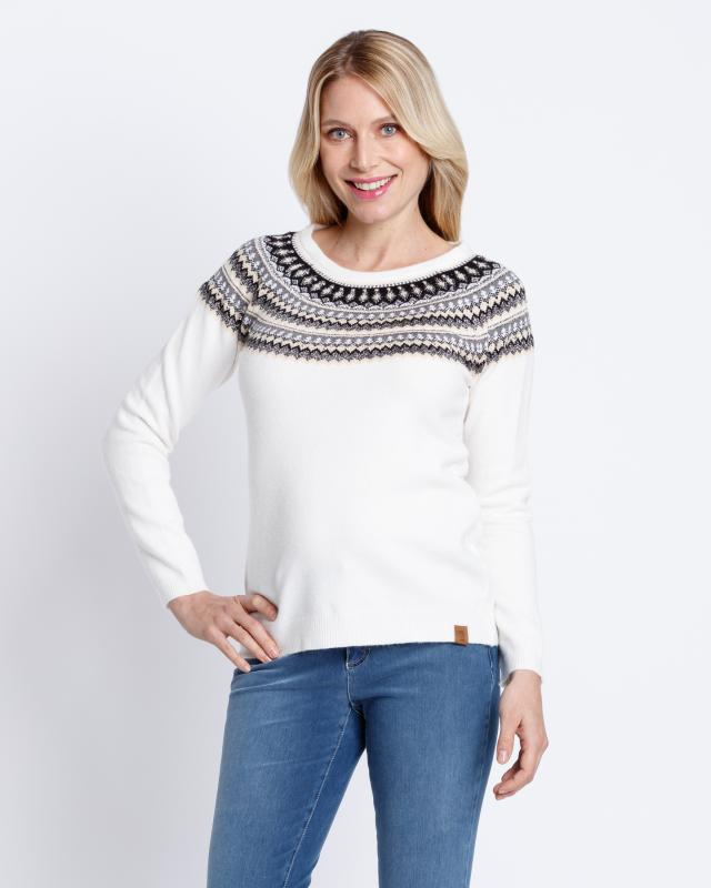 Norweger Pullover | Bekleidung > Pullover > Norwegerpullover | Blue - Muster | Viskose | Fiora Blue