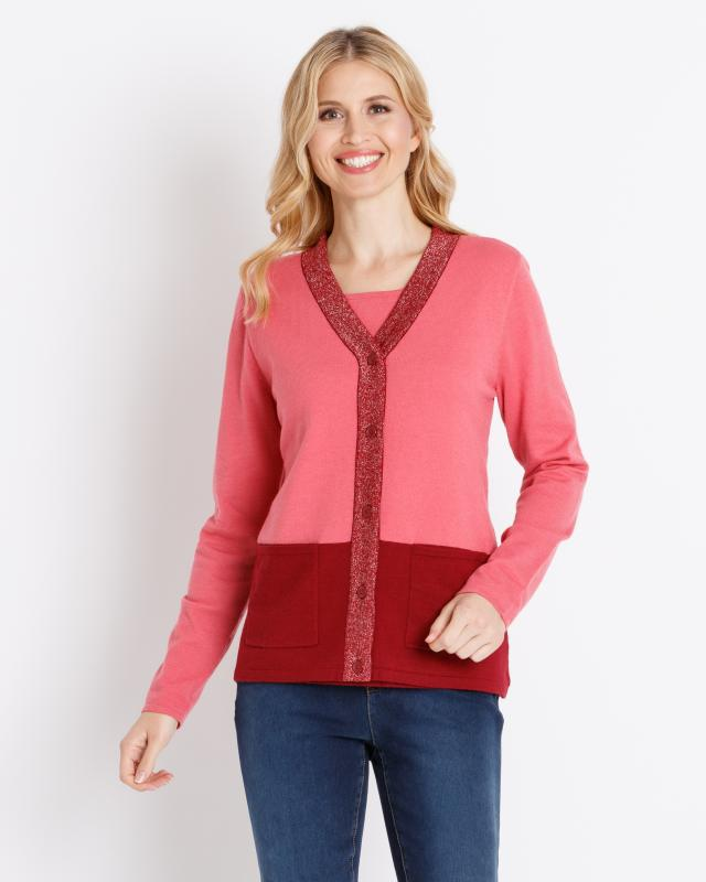 2-in-1 Pullover im Twin-Set-Look   Bekleidung > Pullover > 2-in-1 Pullover   Helena Vera
