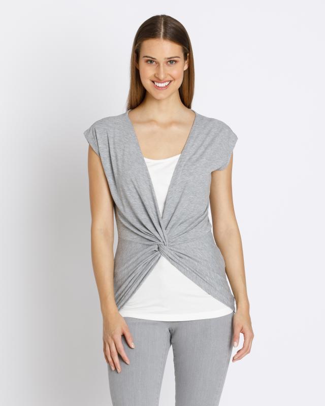 2-in-1-Shirt mit Drapé-Detail | Bekleidung > Shirts > 2-in-1 Shirts | Nala