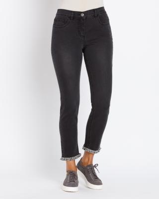 schön Design Markenqualität großer rabatt von 2019 Jeanshose mit Spitzendekor, hier online