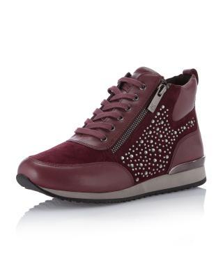 utterly stylish pre order cheap Sneaker mit Fransen-Details und Kontrast-Sohle