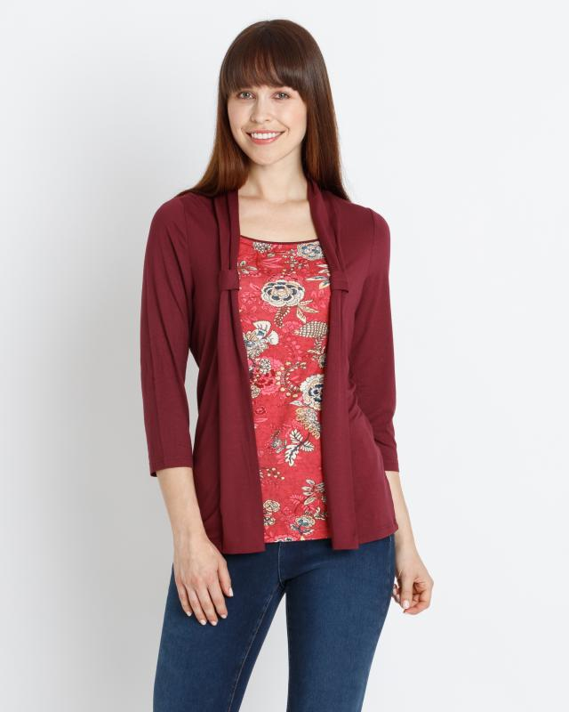 2-in-1 Shirt & Cardigan | Bekleidung > Shirts > 2-in-1 Shirts | Print | Helena Vera