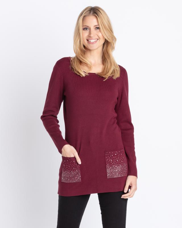 Longpullover mit Taschen | Bekleidung > Pullover > Longpullover | Pfeffinger