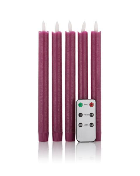 5 LED-Stabkerzen mit Fernbedienung