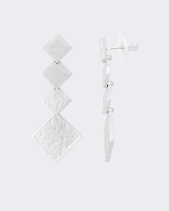 Ohrstecker im Rautendesign | Schmuck > Ohrschmuck & Ohrringe > Ohrstecker | Hochglanz | Hochglanz - Poliert - Messing | Claris Vienna Jewelry Art