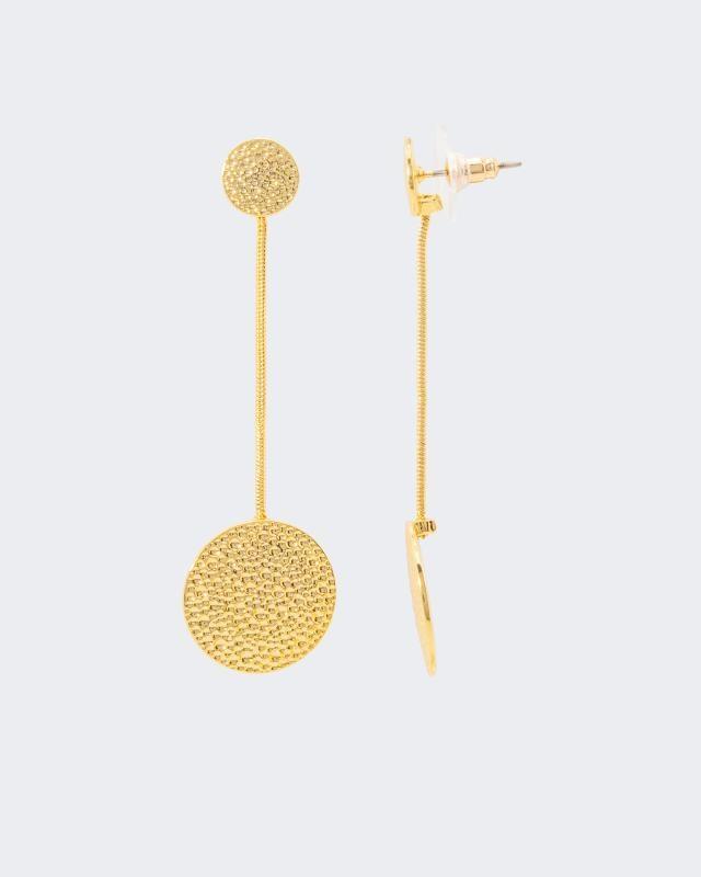 Ohrstecker, strukturiert | Schmuck > Ohrschmuck & Ohrringe > Ohrstecker | Gold | Claris Vienna Jewelry Art
