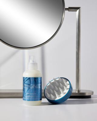 2-Phasen-Kopfhaut-Tonikum & Massagebürste