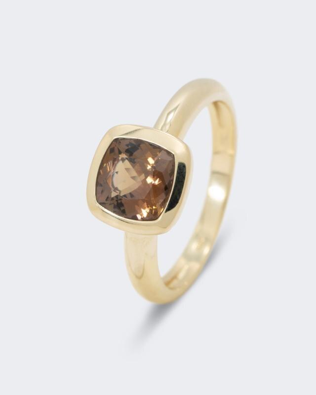 Bergkristall und Silber //8203 Achat Ring