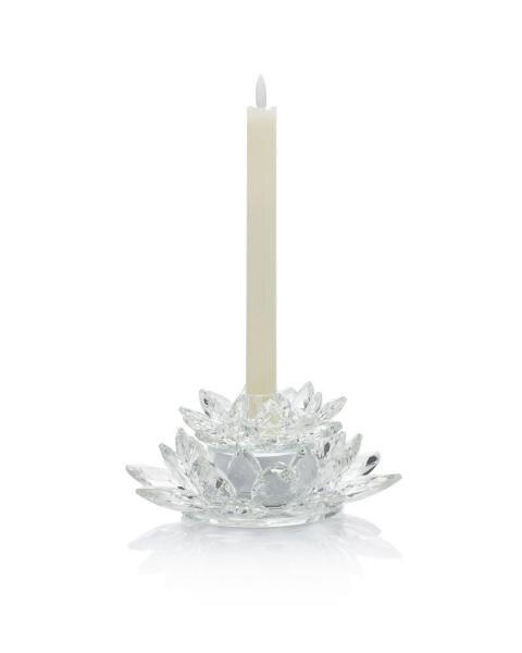 Glasblüten-Kerzenhalter-Set