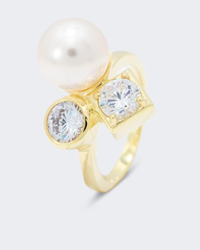 Pfeffinger Ring MK-Perle 10 mm Zirkonia