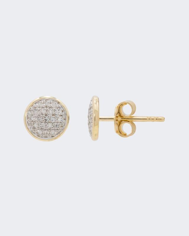 Diamantohrstecker 0,15 ct | Schmuck > Ohrschmuck & Ohrringe > Ohrstecker | Gelb - Gold | Diajeune