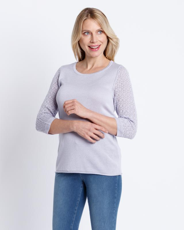 Image of Helena Vera Pullover mit Ajourstrick