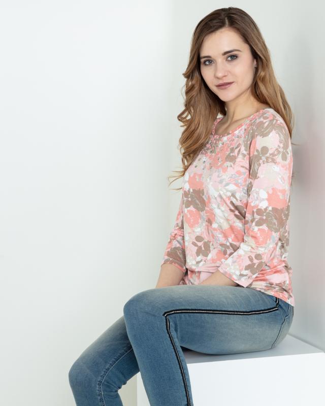 Image of Helena Vera Shirt mit Rosendruck