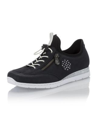 Sneaker mit Schnellbindung und 2 farbiger Laufsohle